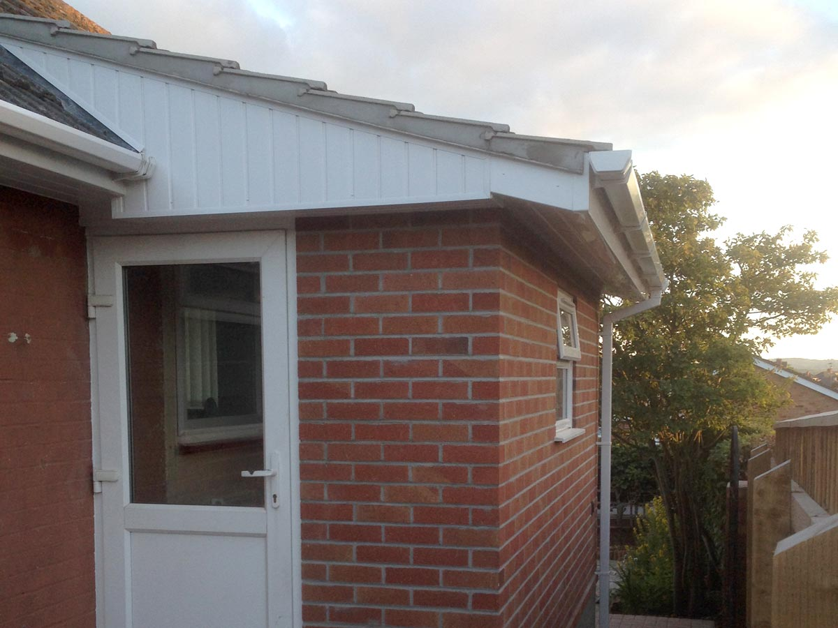 Domestic extension including roofing, block and brick work, upvc facias and guttering, windows