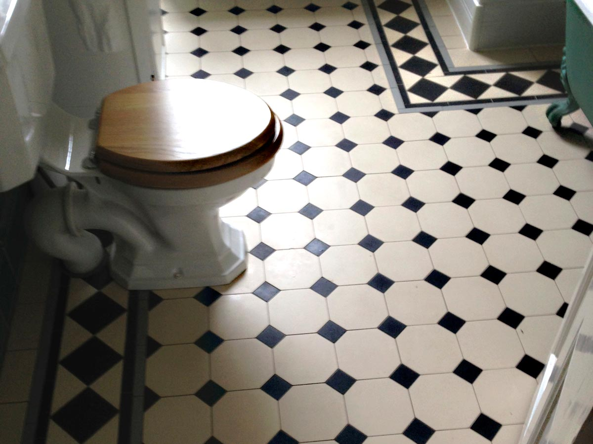 Victorian Bathroom Floor Tiling